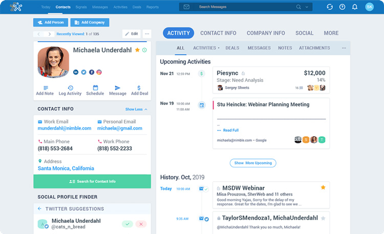 nimble crm review inexpensive platform with a whole lot of efficient tools interface