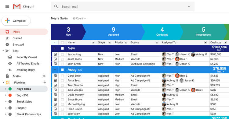 streak crm review best crm gmail users sales feature