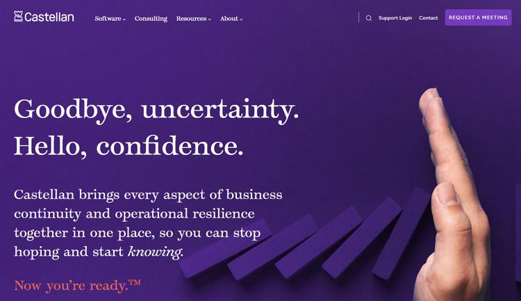 best business continuity planning management software castellan