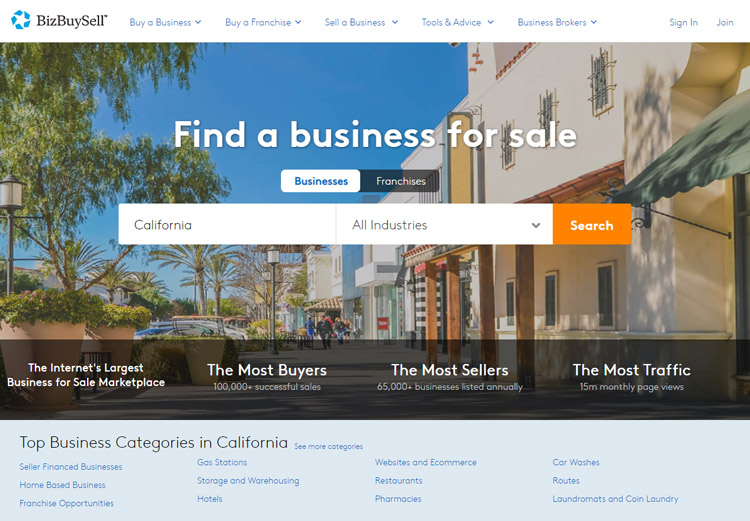 best places to look small business sale bizbuysell