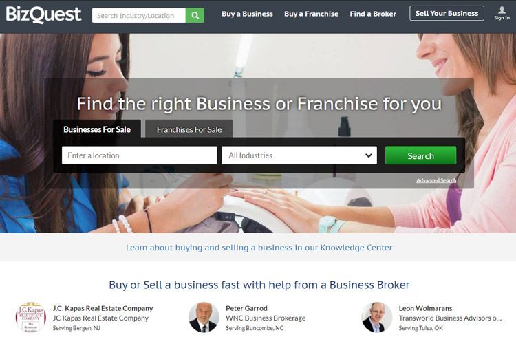 best places to look small business sale bizquest