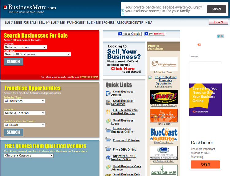 best places to look small business sale businessmart