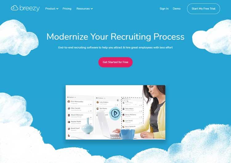 best saas recruitment management software small medium sized business breezy
