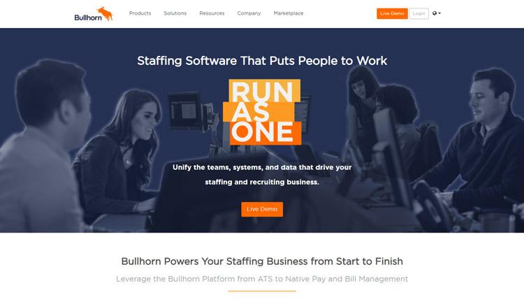 best saas recruitment management software small medium sized business bullhorn