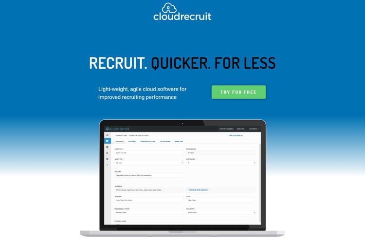 best saas recruitment management software small medium sized business cloud recruit