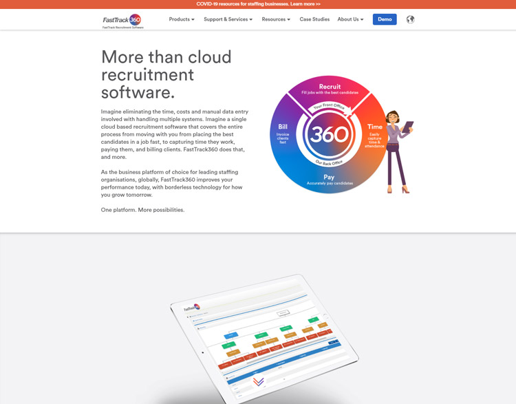 best saas recruitment management software small medium sized business fasttrack360