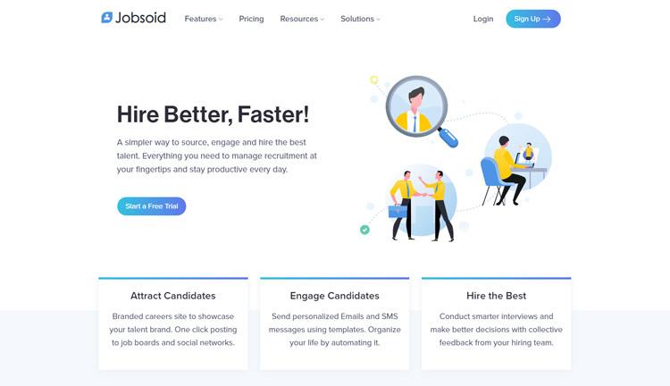 best saas recruitment management software small medium sized business jobsoid
