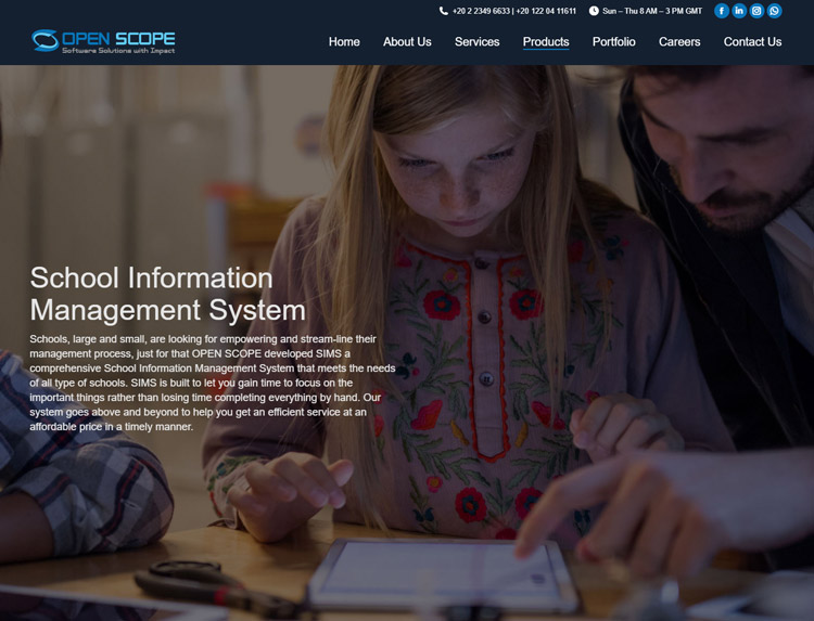 best school information management system sims software open scope