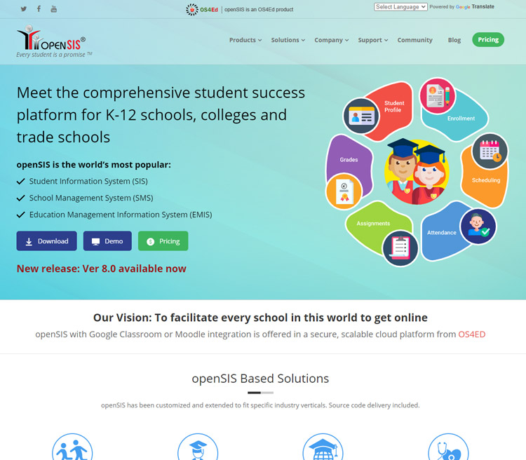 best school information management system sims software opensis