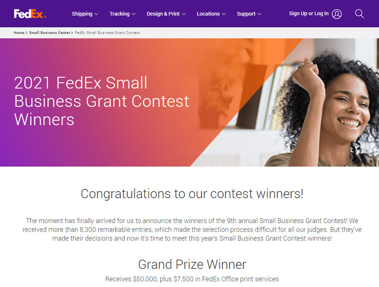 get support small businesses fedex